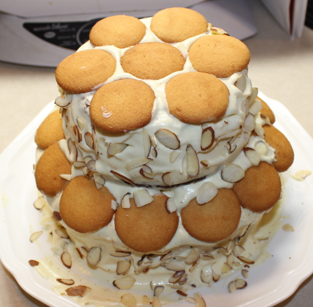 Almond & Banana Pudding Cake